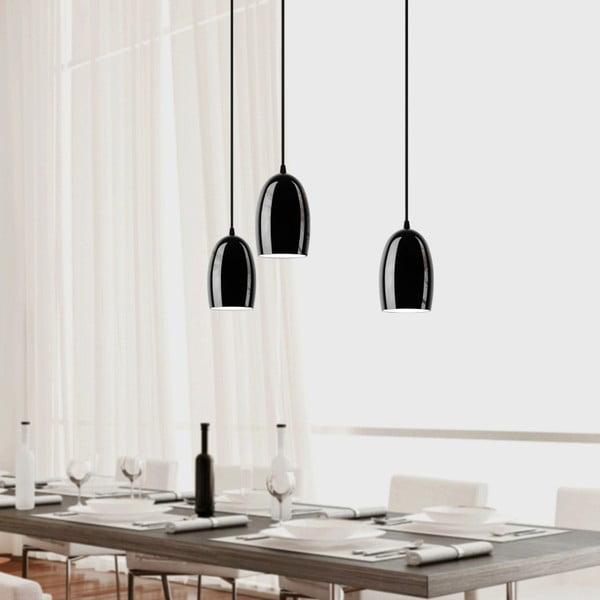 Černé trojité stropní svítidlo Sotto Luce UME Elementary Matte