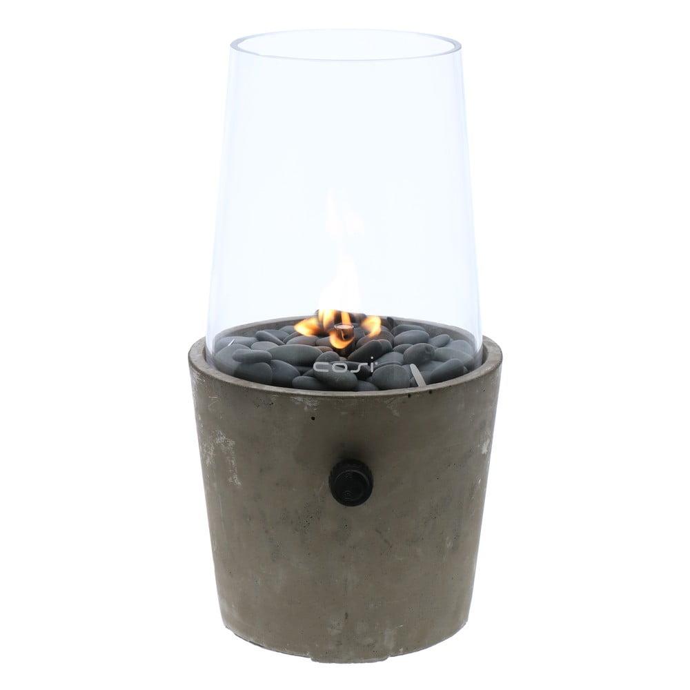 Betonová plynová lampa Cosi Cement, výška 38 cm