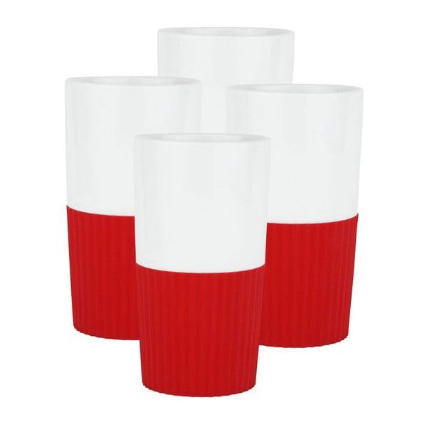 Sada 4 ks porcelánových hrnků Confetti Red