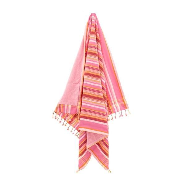 Ručník Hazan Pink, 100x178 cm