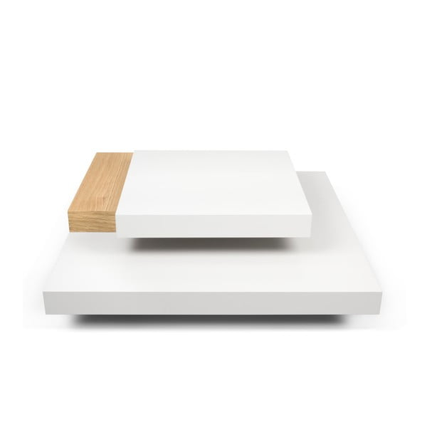 Măsuță TemaHome Slate, alb/maro deschis
