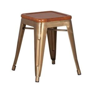 Stolička ze dřeva mindi a kovu Moycor Brushed