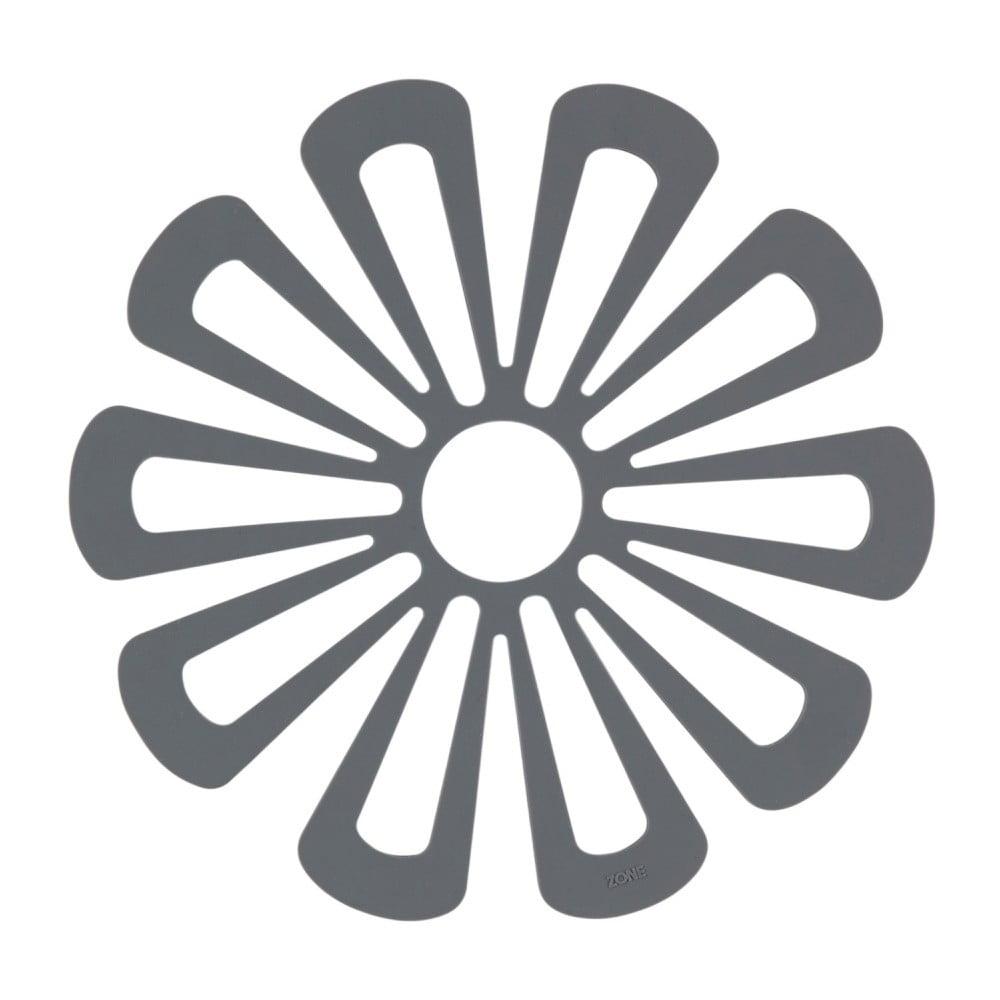 Tmavě šedá silikonová podložka pod horké nádoby Zone Flower