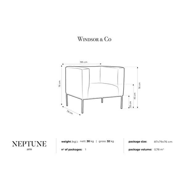 Žluté sametové křeslo Windsor & Co Sofas Neptune