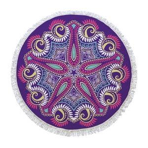 Prosop de baie rotund Purple Universe, ⌀ 150 cm