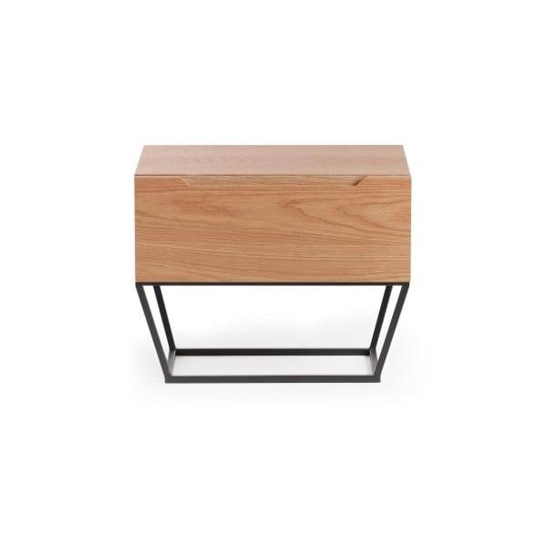 Noční stolek ze dřeva a kovu Ángel Cerdá Notio, 60 x 48 cm