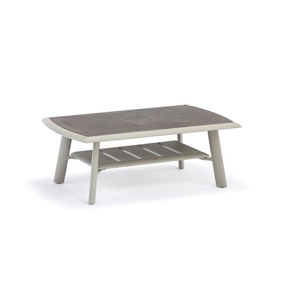 Šedý hliníkový konferenční zahradní stolek s HPL deskou Ezeis Spring