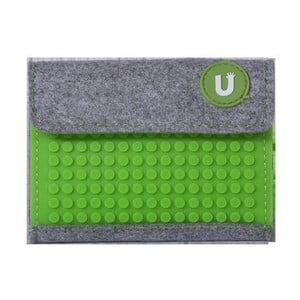 Pixelová peněženka grey/grass green