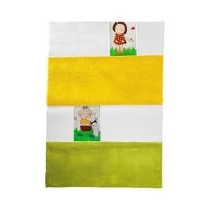 Dětský koberec Mavis Yellow and Green, 100x150 cm