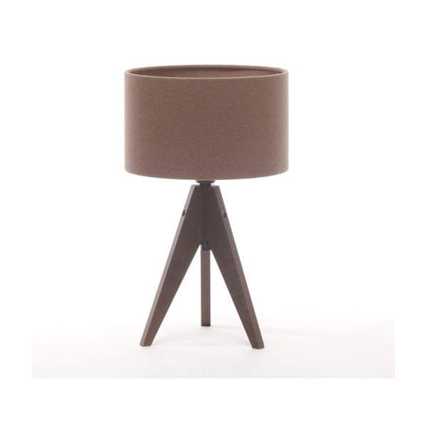 Stolní lampa Arist Cylinder Dark Taupe/Dark Brown