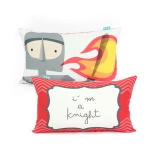 Bavlněný povlak na polštář Mr. Fox Knight, 50x30cm