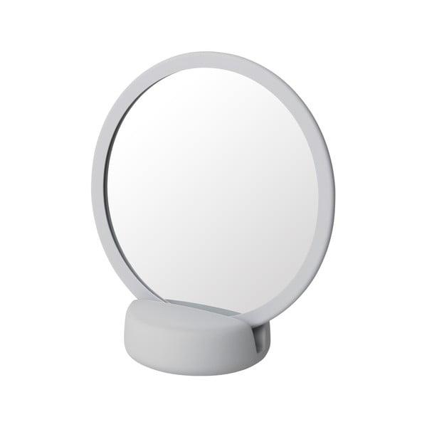 Světle šedé stolní kosmetické zrcadlo Blomus, výška18,5cm