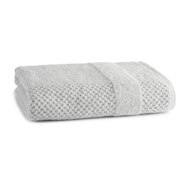 Ručník Honeycomb Silver, 76x137 cm