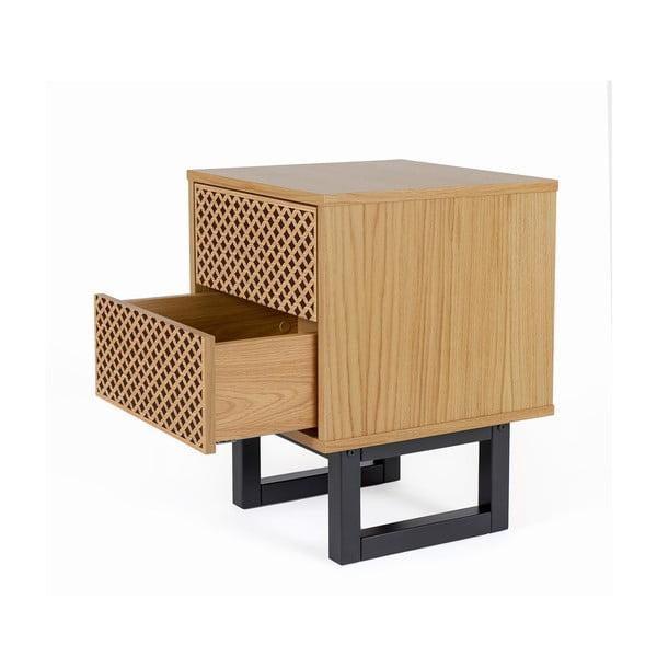 Noční stolek z březového dřeva Woodman Mora Diamond Print