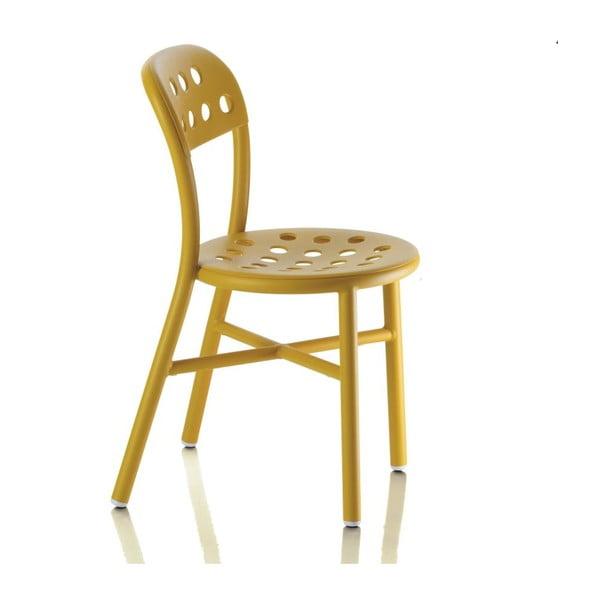 Žlutá židle Magis Pipe