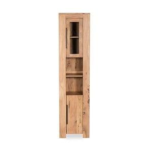 Vysoká koupelnová skříňka  z akáciového dřeva Woodking Wellington