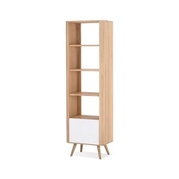 Bibliotecă din lemn de stejar Gazzda Ena, 60x42x196cm