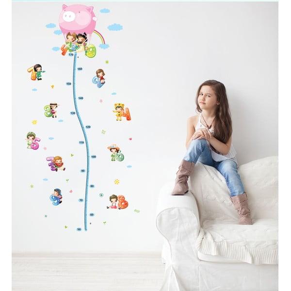 Samolepka s dětským metrem Ambiance Balloon with Little Kids