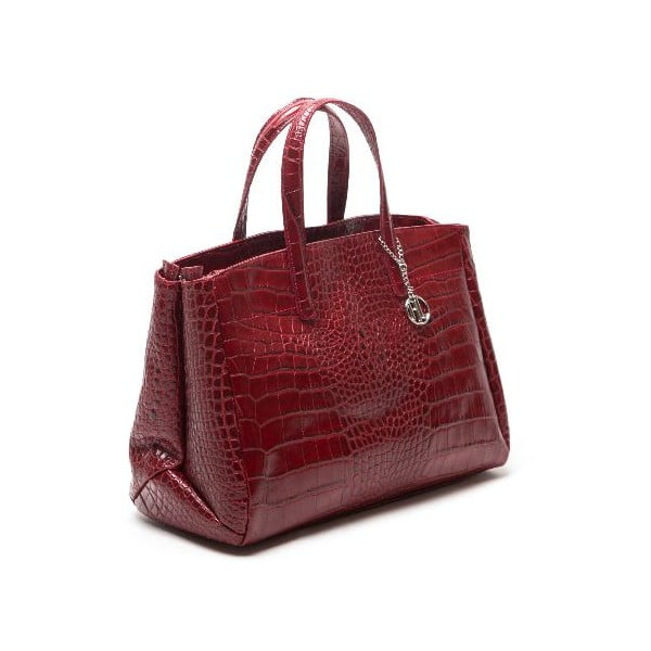 Kožená kabelka Anna Luchini 634 Rosso