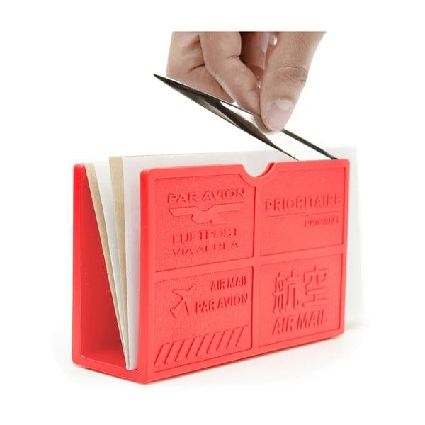 Stojánek na dopisy  s nožíkem Par Avion  červený
