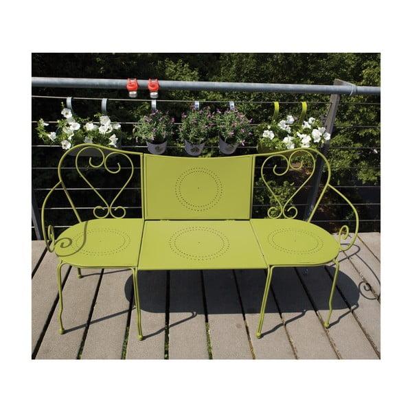 Skládací lavice se stolkem na balkón Nature, zelená