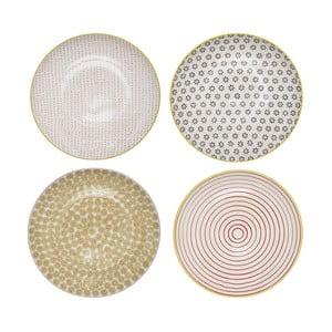 Sada 4 keramických mělkých talířů Bloomingville Susie Mento