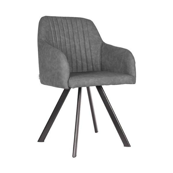 Sivá jedálenská stolička LABEL51 Floor