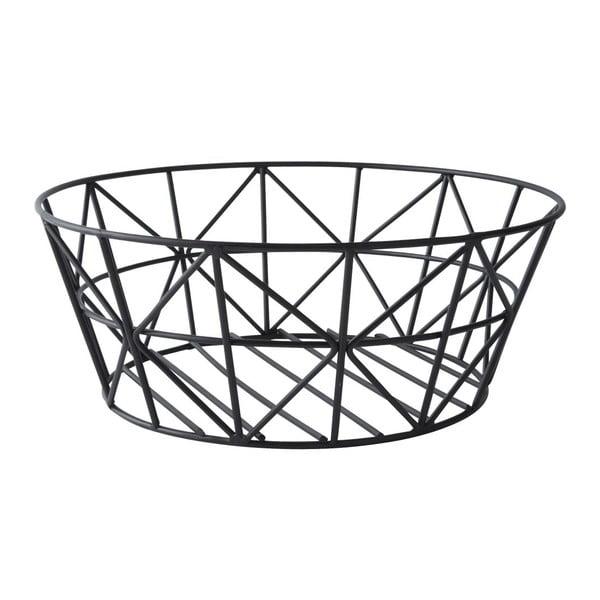 Dekorativní košík Metal Black, 28,5x11 cm