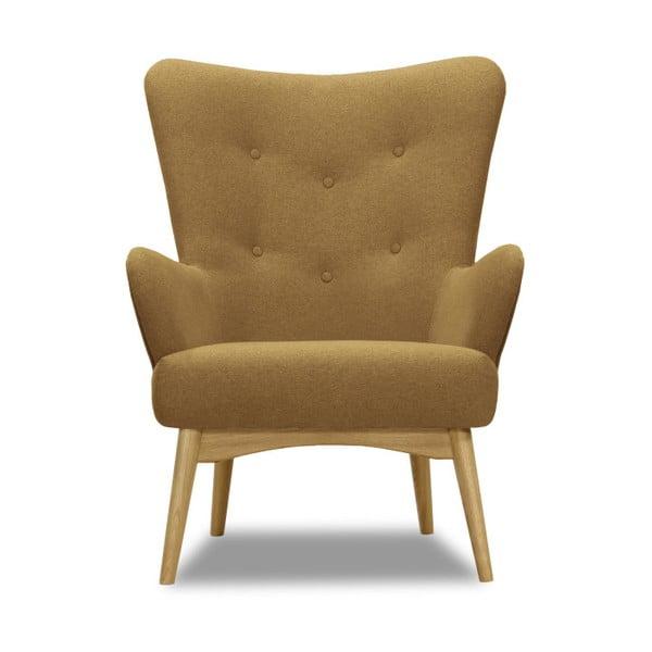 Brązowy fotel Vivonita Uma