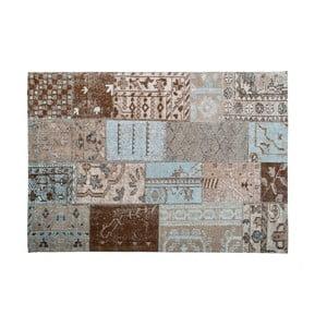 Hnědý koberec s příměsí bavlny Cotex India, 140 x 200 cm
