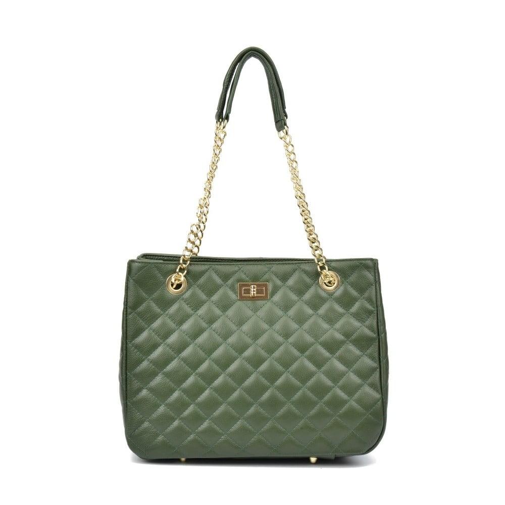Zelená kožená kabelka Isabella Rhea Verde