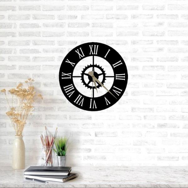 Černé nástěnné hodiny Arbat Clock, ⌀ 49 cm