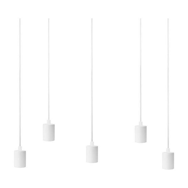 Bílé závěsné svítidlo s 5 kabely Bulb Attack Cero Basic