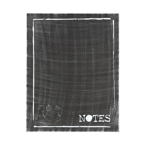Placă metalică pentru mesaje LABEL51 Memo, negru
