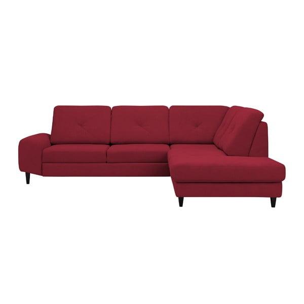 Červená rohová rozkládací pohovka Windsor & Co Sofas, pravý roh Beta