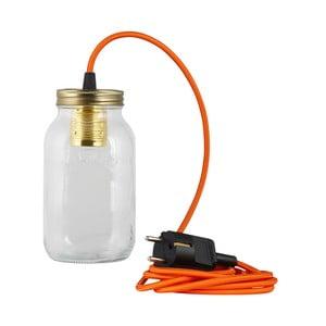 Svítidlo JamJar Lights, oranžový kulatý kabel