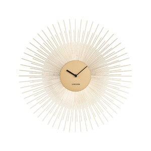 Nástěnné hodiny ve zlaté barvě Karlsson Peony,ø45cm