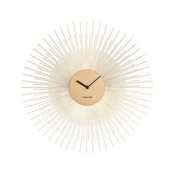 Ceas de perete Karlsson Peony, auriu, ø 45 cm poza