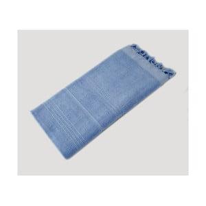Bledě modrá ručně tkaná osuška z prémiové bavlny Homemania Turkish Hammam, 90 x 180 cm