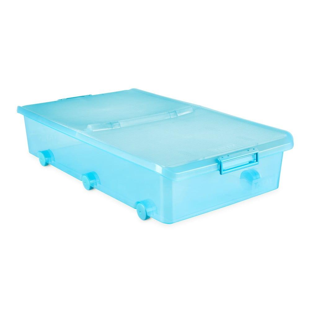 Tyrkysový úložný box pod postel na kolečkách Ta-Tay Storage Box