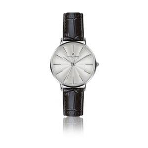 Dámské hodinky s černým páskem z pravé kůže Frederic Graff Silver Monte Rosa Croco Black Leather