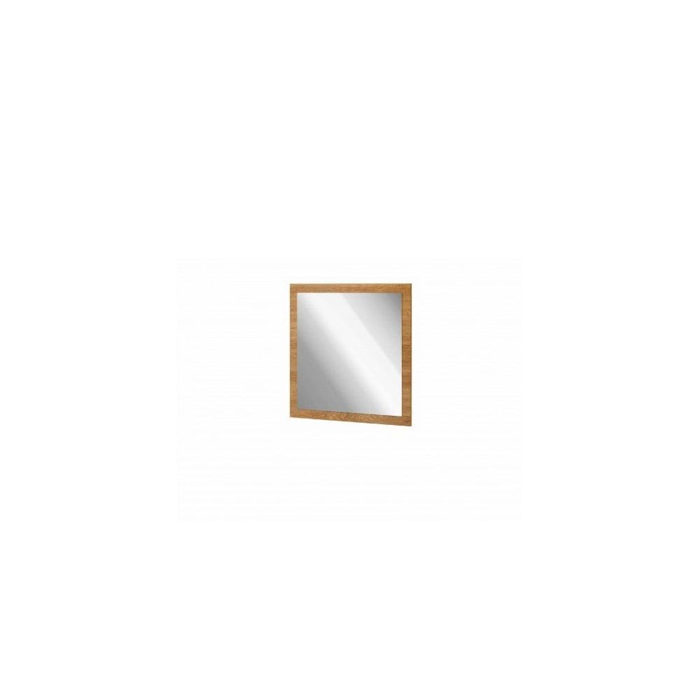 Nástěnné zrcadlo v dekoru ořechu Szynaka Meble Zefir, 78 x 78 cm