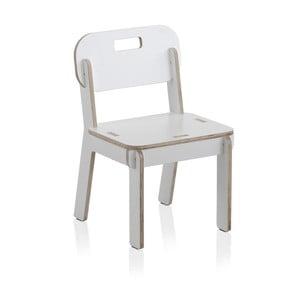 Scaun cu spătar din placaj pentru copii Geese, alb