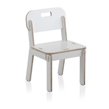 Scaun cu spătar din placaj pentru copii Geese Piper, alb imagine