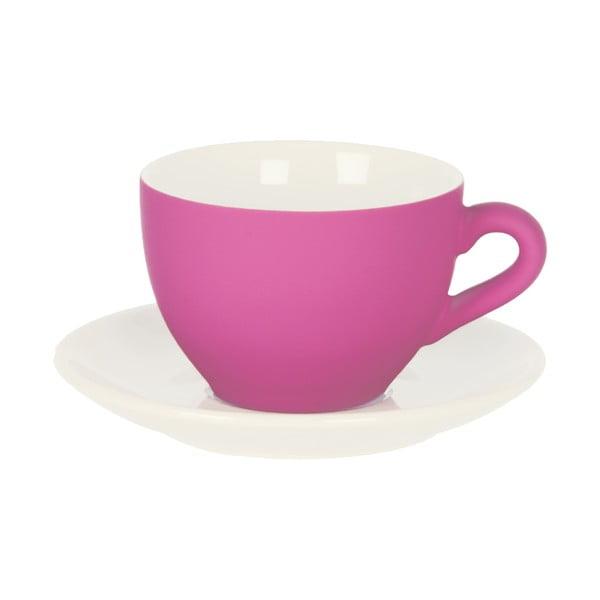 Růžový šálek s podšálkem Present Time Silk