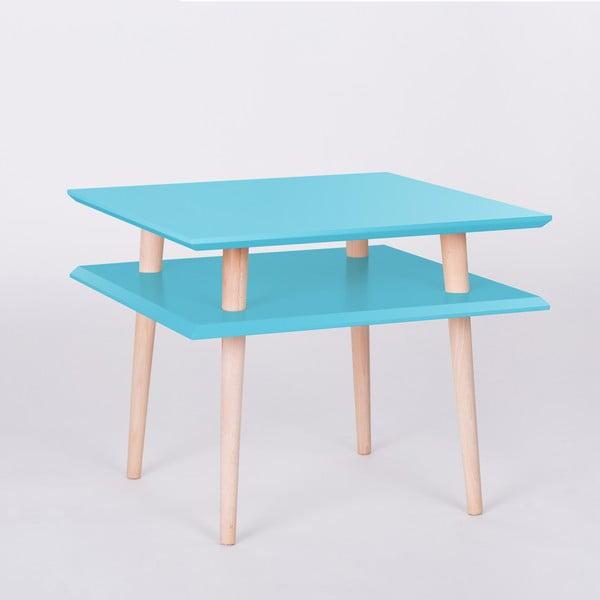 Tmavě tyrkysový konferenční stolek Ragaba Square, 55x55cm