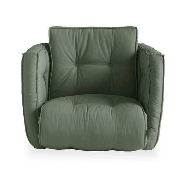 Dice Olive Green zöld kinyitható fotel - Karup Design