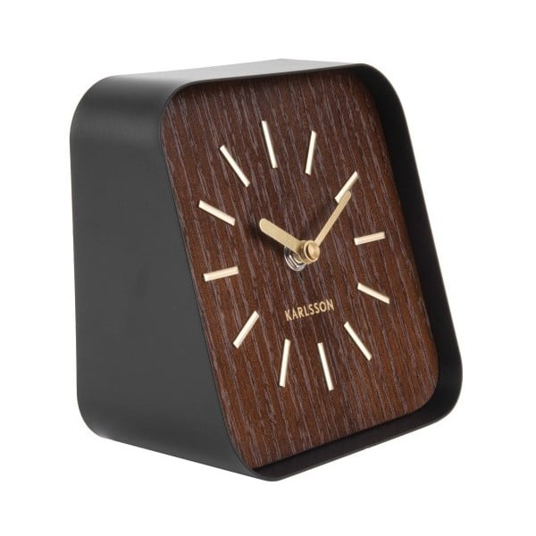 Squared lila-fekete asztali óra - Karlsson