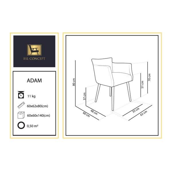 Hnědé křeslo BSL Concept Adam