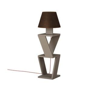 Hnědá volně stojící lampa Kozena Light Mocha Brown